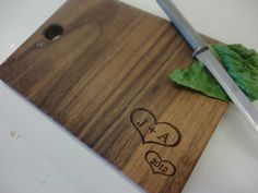Custom Wedding Gift / Personalized Walnut Cutting Board / SHIPS FAST / Personalized Gifts. $20.00, via Etsy.