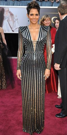 Halle Berry in Versace at the Academy Awards, 2013
