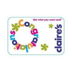 Claire`s Birthday Gift Card $15.00