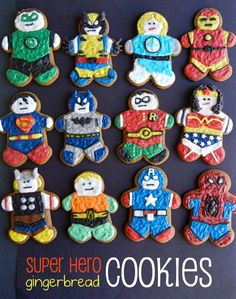 Sugar Swings! Serve Some: super hero gingerbread men and women.....! It will be after Xmas, but this is a project for Christmas vacation week.