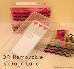 DIY Removable Storage Labels (plus more tips for organization and storage)