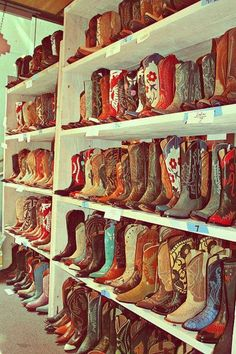 cowboy boots. I'm in love.