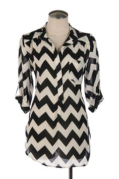 $26 Black Chevron Shirt Sold at Cuts to Dye For