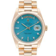 Turquoise Rolex..love this