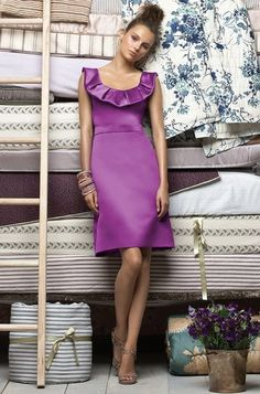 Lela Rose - Purple / Orchid Bridesmaid Dress Duchess Satin