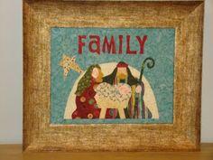 Nativity Family Wall Art, Christmas Crafts