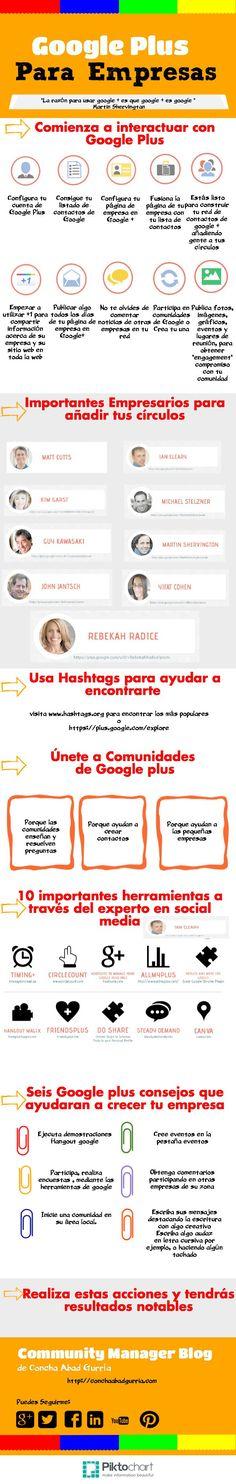 Google + para empresas #infografia
