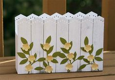 Picket Fence Card Holder Box