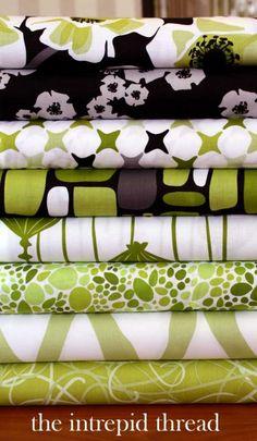 Poppy Modern - Fat Quarter Bundle in Lime. Great website for beautiful fat quarter bundles!