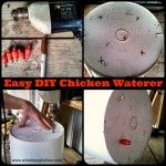 The Bestest and Cheapest Chicken Waterer {DIY}