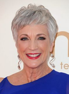 Wowzers - a brilliant 'Winter' on cool, silver hair.  If you've never worn makeup in your life, now is a fine time to start.