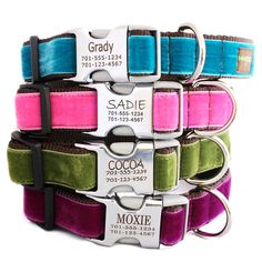 Personalized Dog Collars - 14 colors via Etsy