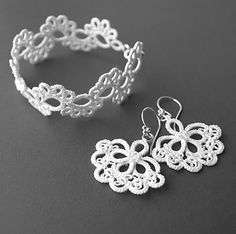 Tatted jewelry tat lace, craft, necklac bracelet, jewelry necklaces, tatting pattern, tat bracelet, bracelet jewelri, tat jewelri, jewelri necklac