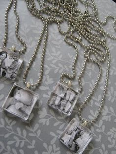 Photo pendants.  Another nifty jewelry idea.