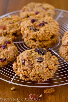 Quick & easy Breakfast Cookies.  Dump all of the healthy ingredients into a bowl and mix. @Jenn L Milsaps L Milsaps L Orsborn Gotschall