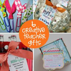 handmade teacher gifts....<3 the paperclips!!