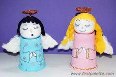 Paper Cup Angel for #Christmas #Craft Ideas! christmas crafts, angel crafts, k cups, cup angel, angels, christma craft, craft ideas, kid crafts, paper cups
