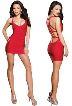 minidress, fashion, backless dresses, sexi red, mini dresses, clubwear, minis, red low, bare backless