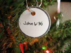 Scripture Christmas Tree, keeping Christ in Christmas