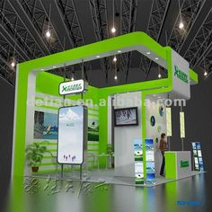 trade show booth ideas | wood exhibit display booth design for trade show from Shanghai 6m*6m ...