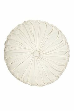 Very pretty Round Velvet Pintuck Pillow in white by #urbanoutfitters would go great on the plum tufted sleeper sofa adding a pop of color, and would also bring out the white in the Tree of Life Tapestry that would hang behind the sofa.
