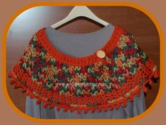 Posh Pooch Designs Dog Clothes: Fall Colors Ponchette - Poncho Crochet Pattern