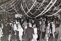 gymnasia with streamers | dance, high school yearbook c.1960's by bunky's pickle, via Flickr