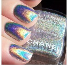 Iridescent chanel nailpolish #ghdwonderland