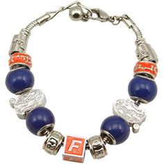florida gators, charm bracelets, charms, gator charm, ncaa florida, gator footbal, gator chomp, bracelet fanat, bracelet footbal