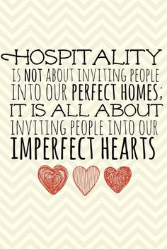 Hospitality is not about....