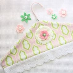 Follow this easy tutorial to make a coat hanger cover - perfect for those special garments.