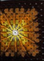 """Double Treble Burst Square (12""""hx12""""w inches) - Free Original Patterns - Crochetville"""