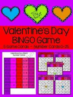 Valentine's Day - BINGO Game product from Pink-at-heart on TeachersNotebook.com