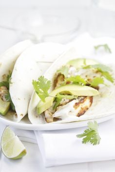 Chicken Tacos with Jalapeno Ranch Sauce