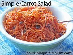 simpl carrot, favorit recip, minimalism, food side, carrots, salads, food health, nourish minim, carrot salad