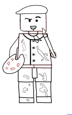 How to Draw a LEGO Artist