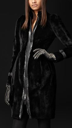 Sheared Mink Coat ~ Burberry