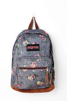 Gray Floral Print Jansport Backpacks - Cute Floral Print Jansport Backpacks - LoveItSoMuch.com