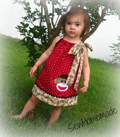 Sock Monkey Pillowcase Dress -  Sock Monkey Dress