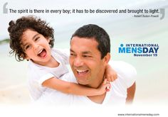 Objectives of International Men's Day include a focus on men's and boy's health, improving gender relations, promoting gender equality, and highlighting positive male role models. It is an occasion for men to celebrate their achievements and contributions, in particular their contributions to community, family, marriage, and child care while highlighting the discrimination against them.