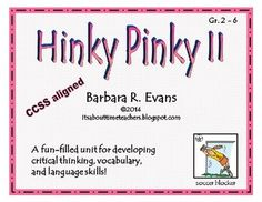 Develop critical thinking, vocabulary, and language skills. My students beg to do these! $ #CCSS #Gifted #HinkPinks #criticalthinking #higherorderthinkingskills #enrichment #BarbEvans #itsabouttimeteachers