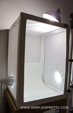Make your own DIY Light Box / Light Tent   Simple is Pretty {www.simpleispretty.com}
