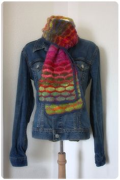 one of my favourite scarves. Crocheted in NORO yarn.
