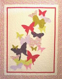 Flutterby Quilt Pattern from Crazy Old Ladies at KayeWood.com http://www.kayewood.com/item/Flutterby_Quilt_Pattern/2884 $9.00