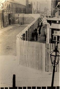 Warsaw, Poland, 1943, A ghetto street.