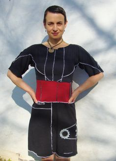 Tunic T Dress/ Womens Custom Dress/Eco Artisan by RebirthRecycling, $85.00
