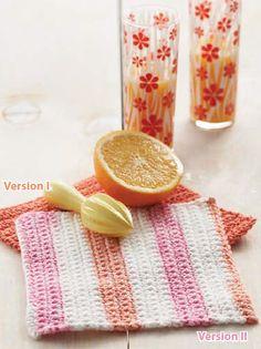 Lily® Sugar 'n Cream® Basic Dishcloth  #crochet #pattern