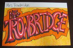 add shadows in graffiti project- Portfolio Project for Middle School – Graffiti Names | TeachKidsArt