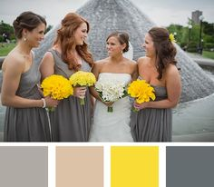 urban color palette from the summer #myweddingmag - click to see more inspirational summer wedding themes!