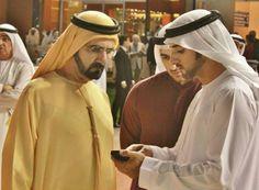 Mohammed RSM, Rashid and Hamdan MRM, on Super Saturday (10/03/2012) Photo: Abdulrahman Al Mulla